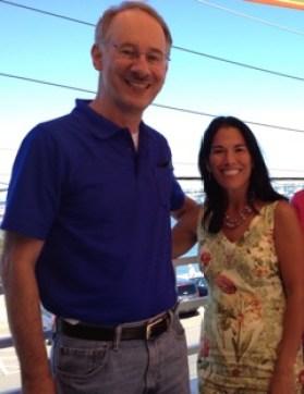 Rep. Keiko Orrall with Chuck Boyll