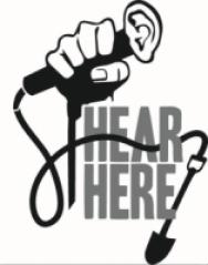 "Colorado Springs ""Hear, Here!"" logo"