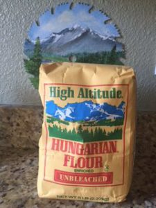 A five-pound bag of Hungarian Flour