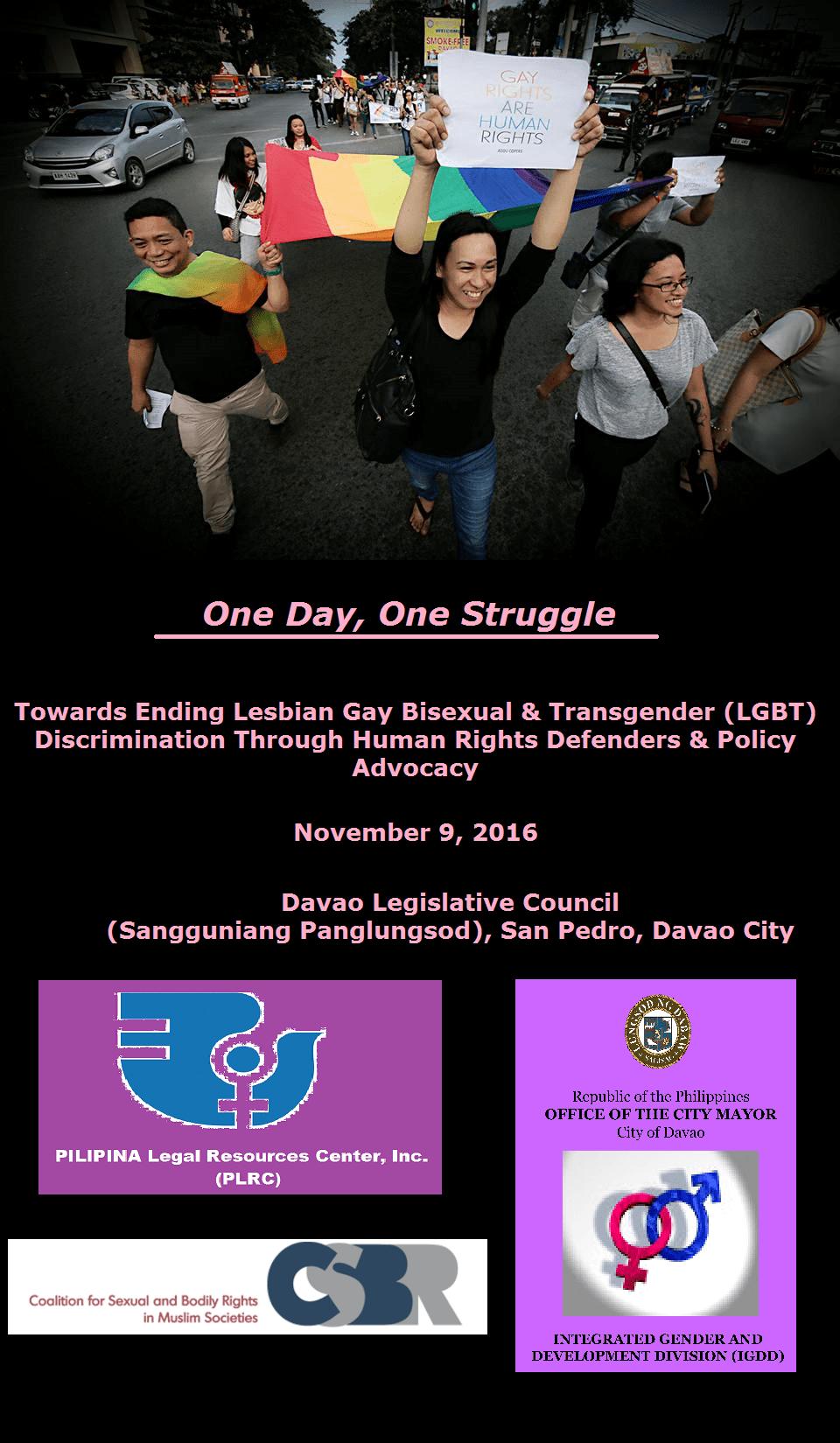Lesbian discrimination day centre