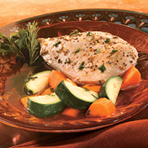 Herb Poached Chicken with Zucchini & Carrots
