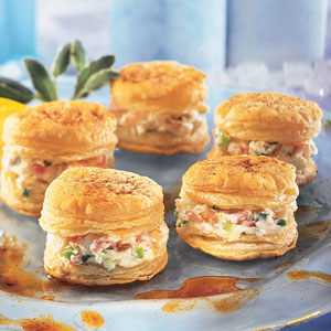 Crab Appetizer Napoleons Puff Pastry