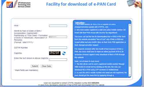 pan card download