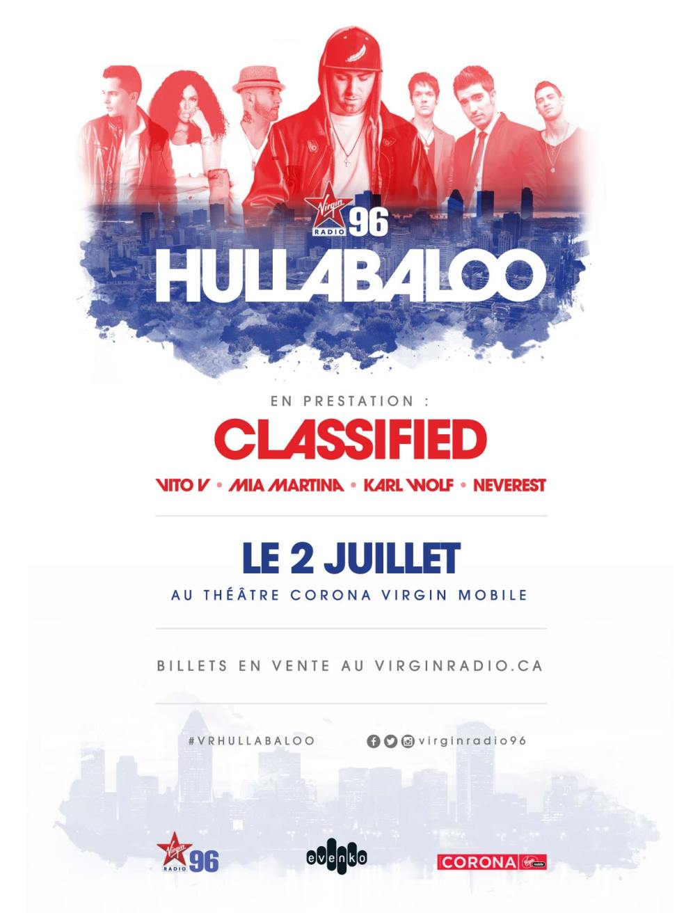 Virgin Radio's Hullabaloo Poster - FR