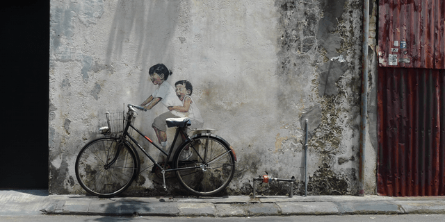 Penang   Little Children on a Bicycle 640x320 - Contemporary Art in SE Asia