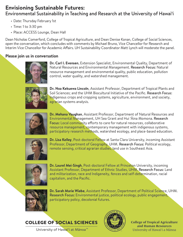 Envisioning Sustainable Futures Talk Poster