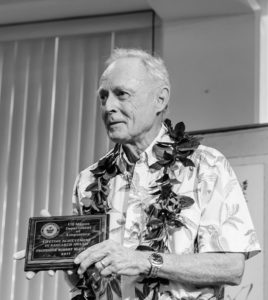 Dr. Robert Blust receiving lifetime achievement in research award