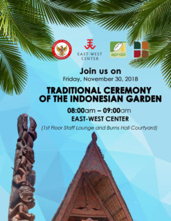nov 2018 flyer for traditional ceremony of the indonesian garden