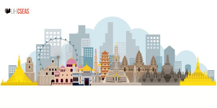 Southeast Asia Landmarks Skyline
