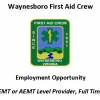 Waynesboro First Aid Crew - Employment Opportunity: EMT or AEMT Level Provider, Full Time