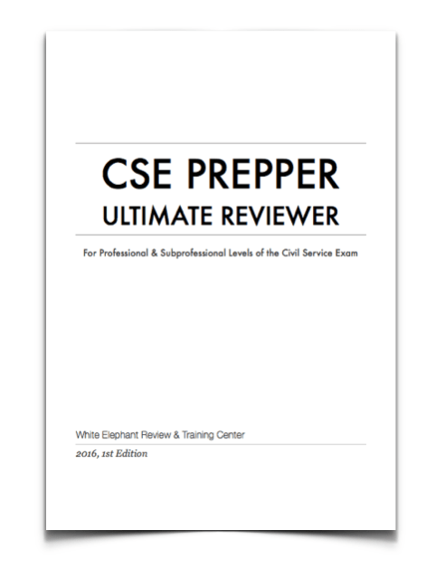Civil Service Reviewer for Professional & Sub-Professional