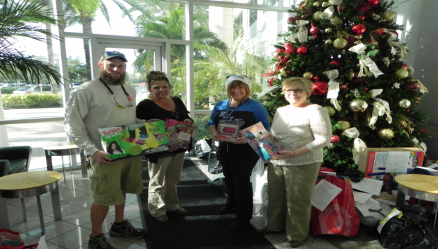 Christmas presents donated by the employees of TransAmerica