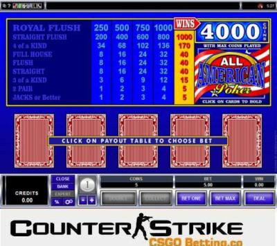 CS GO All American Video Poker Games