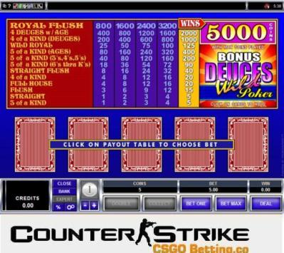 CS GO Bonus Deuces Wild Video Poker Games
