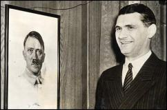 A picture of Wiedemann, Tientsin's former Nazi general-consul, and a Adolf Hitler in a frame - by online sources