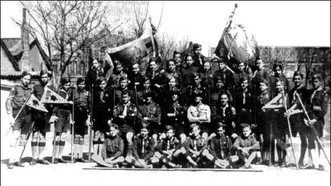 Tientsin Troop, National Organization of Russian Scouts, 1938 - source Pinetree Web