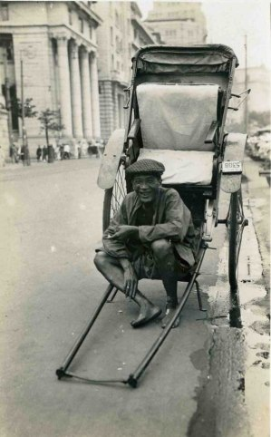The rickshaw puller taking a break - Virtual Shanghai