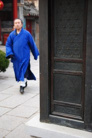 A Daoists's blue robes - photo by C.S. Hagen