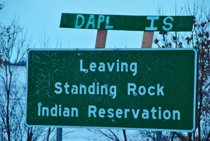 DAPL is leaving - photo by C.S. Hagen