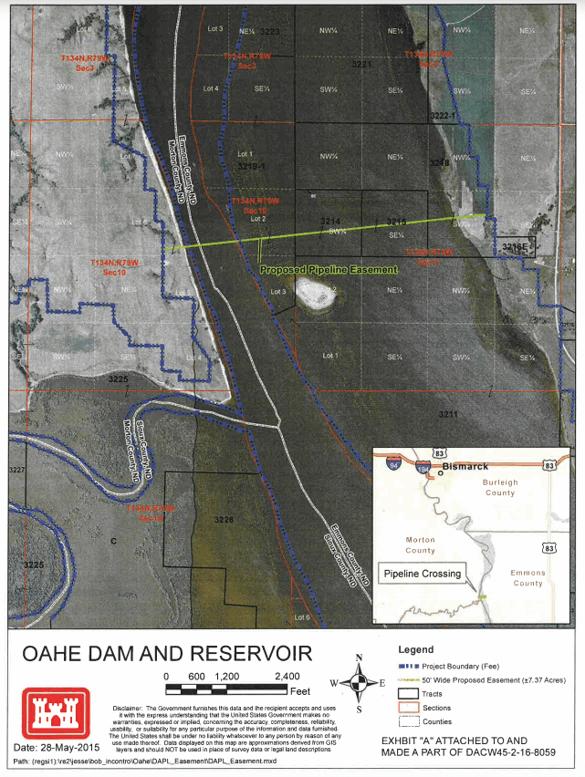 DAPL CSNews - Us army corps of engineers frost depth map