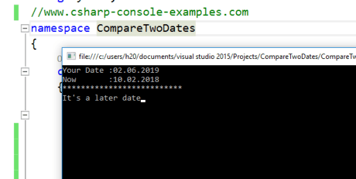 How to Compare Two Dates in C# – C# Programming Example