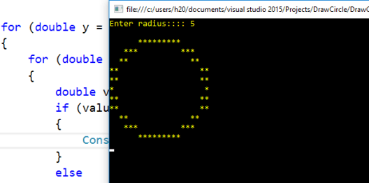 Draw a Circle In C# Console Application – Programming ...