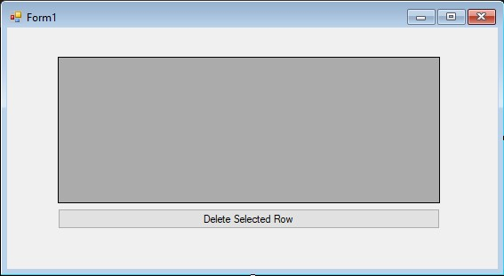 Deleting Selected Row in dataGridView in C# by Using Button – C#