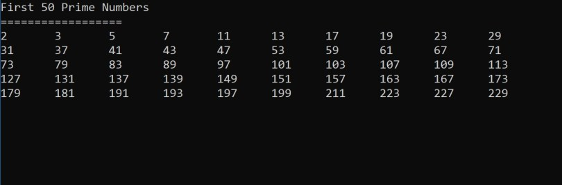 what are all of the prime numbers up to 50