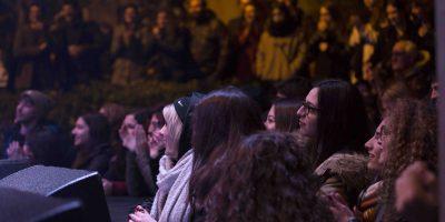 Il pubblico di studenti per Motta
