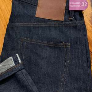 Unbranded UB601 relaxed tapered 14.5 oz. indigo selvedge jeans