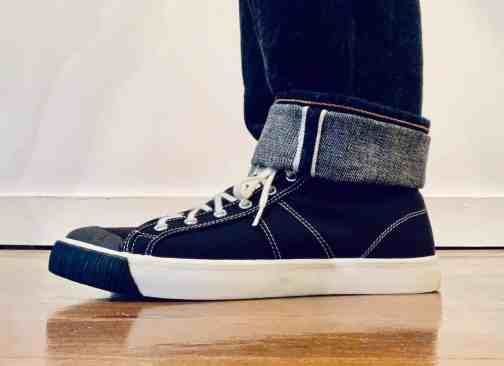 Colchester Rubber Co. 1892 National Treasure Coal Black High Top Sneakers