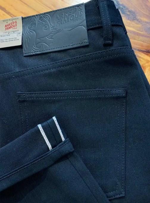Naked & Famous Denim Super Solid Black Selvedge Jeans