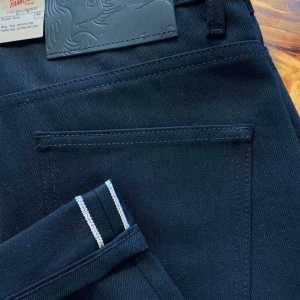 Naked & Famous Denim Super Solid Black Selvedge Jeans
