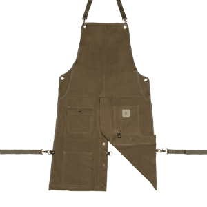 Knife and Flag Olive Split-Leg Apron