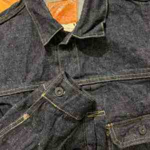 Burgus Plus Lot 71928-XX Natural Indigo Selvedge Denim Jacket