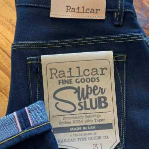 Railcar Fine Goods X034 Spikes Super Slub 16.5 oz. Slim Tapered Jeans