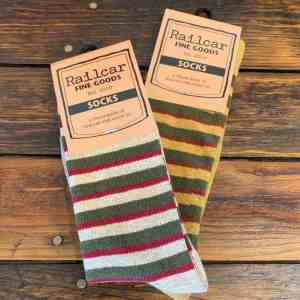 Railcar Fine Goods Striped Socks