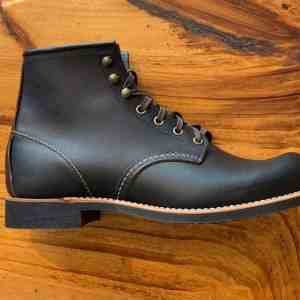 Red Wing Heritage Blacksmith 3345 Black Prairie Leather Lace Up Boots