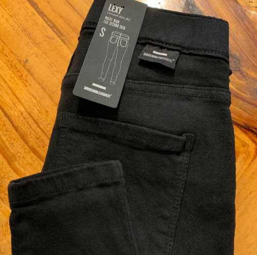 Dr. Denim lexy black mid waist skinny jeans.