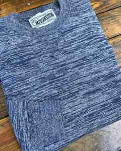 Schott SW1913 crew neck sweater in navy.