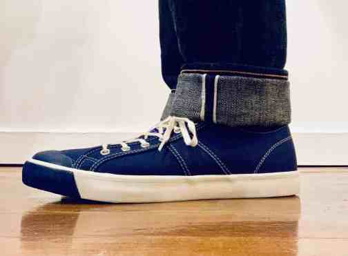 Colchester Rubber Co. 1892 National Treasure Navy Low Top Sneakers.