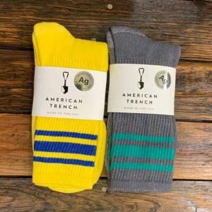 American Trench Silver Athletic Stripe Socks