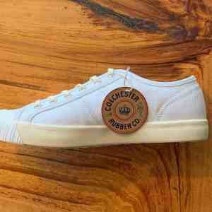Colchester Rubber Co. National Treasure White Low Top Sneakers