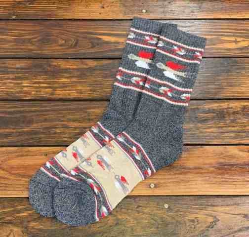T-bird socks by The Ampal Creative. In Charcoal.