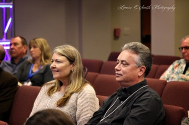 Diana and Terry listening to panel - wm