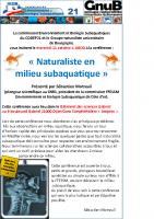 Affiche pour animation GNUB du 11 octobre