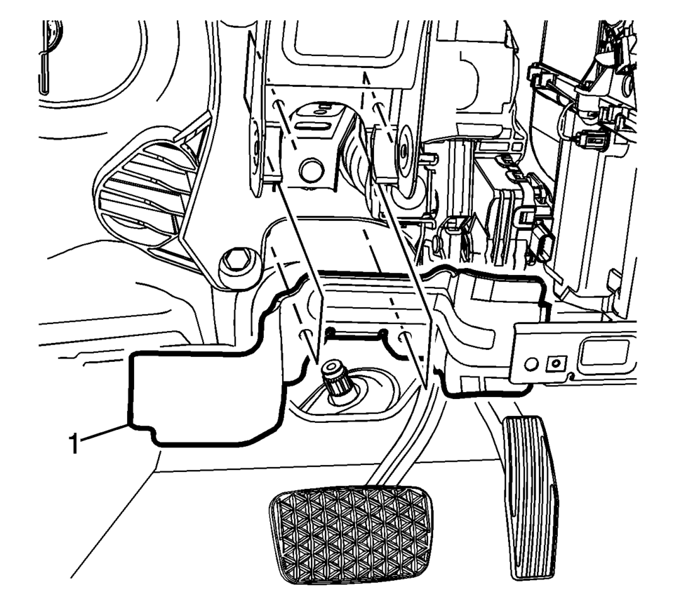 Chevrolet Sonic Repair Manual: Brake Pedal Assembly
