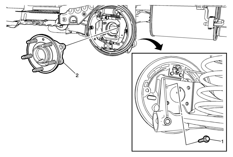 Chevrolet Sonic Repair Manual: Rear Wheel Bearing and Hub