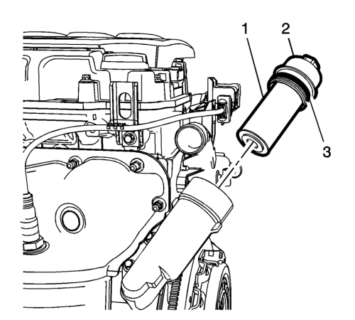 small resolution of install a new oil filter cap seal ring 1
