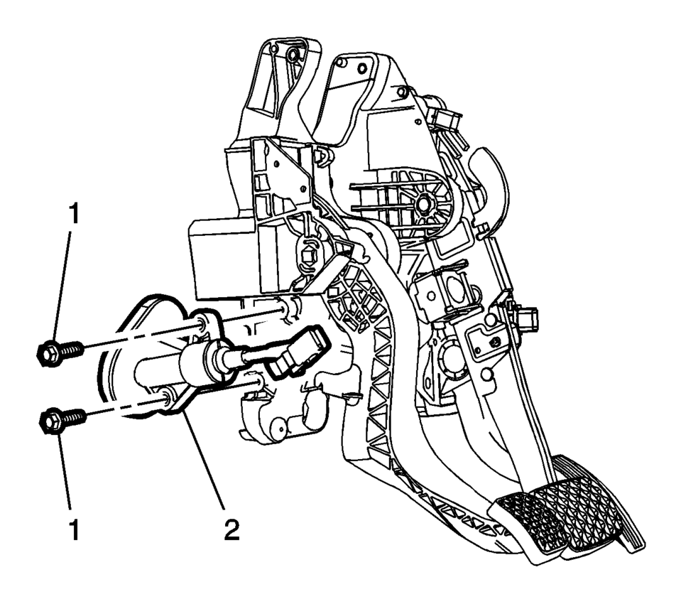 Chevrolet Sonic Repair Manual: Clutch Master Cylinder